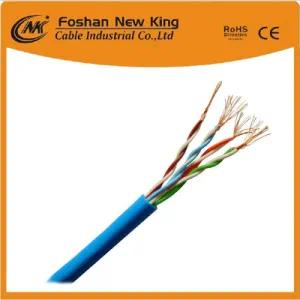 Fábrica 0.4mm, 0.45mm, 0.5mm Bc / CCA Conductor UTP / FTP Cat5e LAN Cable Newwork Cable