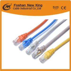 Venta caliente LAN Cable computer UTP FTP Cat5e Newwork Cable + RJ45 Connector con Bc / CCS / CCA Conductor